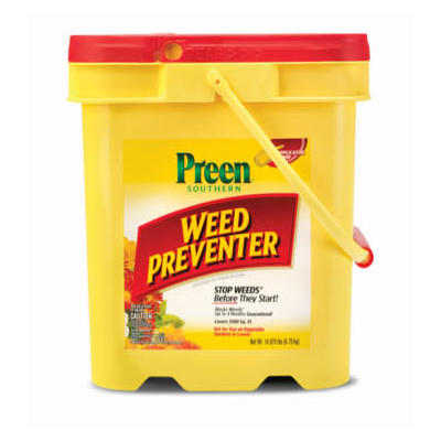 Preen Southern-Formula Weed Preventer Pail, 14.875 lbs.