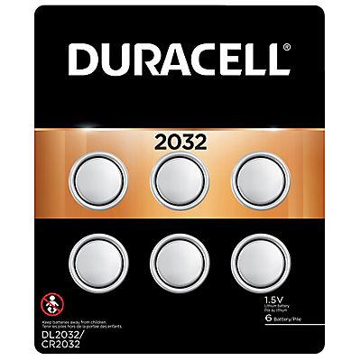 Duracell D Cell 2032 Watch Batteries, 6 ct.