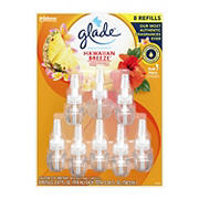 Glade PlugIns Hawaiian Breeze Scented Oil Warmer Refills, 8 pk.