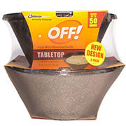 OFF! 3-Wick Citronella Candles, 2 pk.