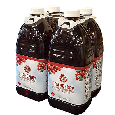 Wellsley Farms Cranberry Juice Cocktail, 4 pk./64 oz.