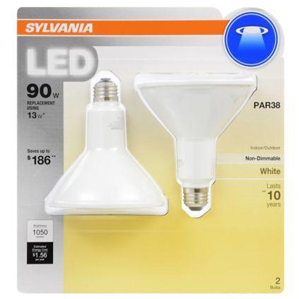 Sylvania 100w Equivalent Led Par38 Light Bulb 2 Pk Bright White