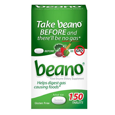 Prestige Beano Food Enzyme Dietary Supplement Tablets, 150 ct.