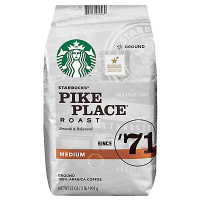 Starbucks Pike Place Medium Roast Ground Coffee, 32 oz.