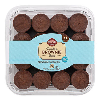 Wellsley Farms Brownie Bites, 32 ct.