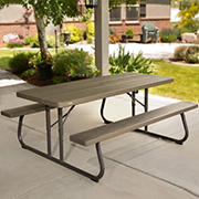 Lifetime 6' Folding Picnic Table - Brown