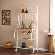SEI Maxwell 4-Shelf Baker's Rack - White/Oak