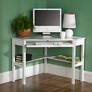 Corner Computer Desk - White