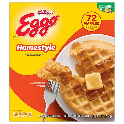 Eggo Homestyle Waffles, 72 ct.