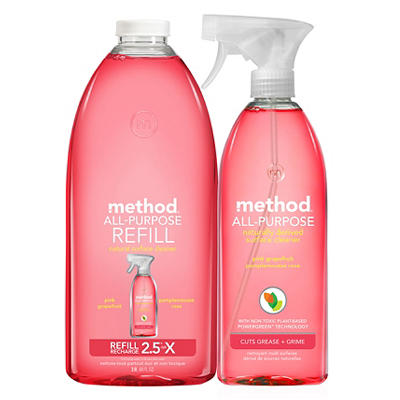 Method All-Purpose Surface Cleaner with Refill, 96 oz.
