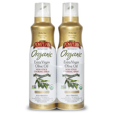 Pompeian Organic Extra Virgin Olive Oil Cooking Spray, 2 pk./5 oz.