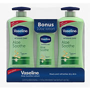 Vaseline Intensive Care Aloe Soothe Body Lotion, 2 pk./20.3 fl. oz. with Bonus Bottle, 10 oz.