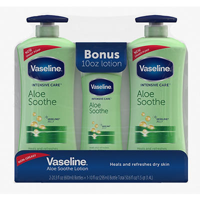 Vaseline Intensive Care Aloe Soothe Body Lotion, 2 pk./20.3 fl. oz. wi