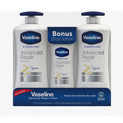Vaseline Intensive Care Advanced Repair Lightly Scented Lotion, 2 pk./