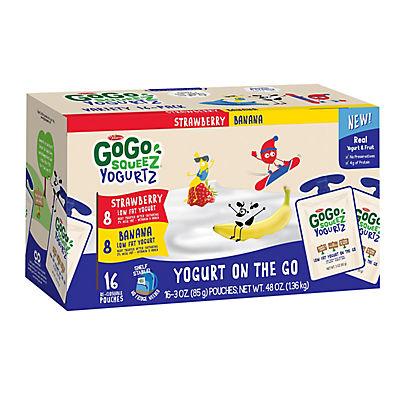 GoGo SqueeZ Yogurtz Variety Pack, 16 ct.