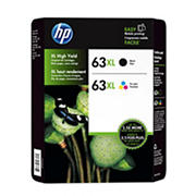 HP 63XL Black/Color Combo Ink Cartridges, 2 pk.