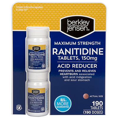 Berkley Jensen 150mg Ranitidine Tablets, 2 pk./95 ct.