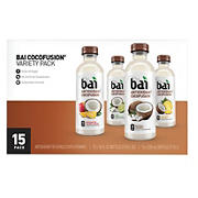 Bai Cocofusion Variety Pack, 15 ct./18 oz.