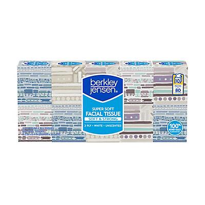 Berkley Jensen Unscented Facial Tissue, 800 sheets