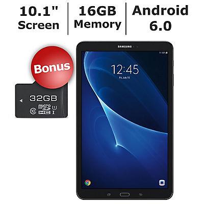 "Samsung Galaxy Tab A 10.1"" Tablet, 16GB Memory, Bonus 32GB microSD Car"