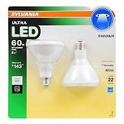 Sylvania 60W Equivalent LED PAR390 Long Neck Light Bulb, 2 pk. - Soft White