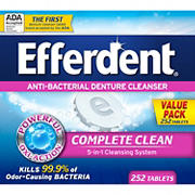 Prestige Efferdent Anti-Bacterial Denture Cleanser Tablets, 252 ct.
