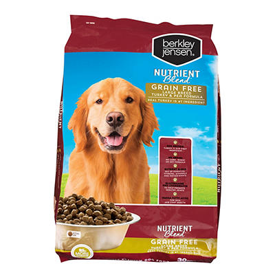 Berkley Jensen Nutrient Blend Grain-Free Large Breed Turkey and Pea Dr