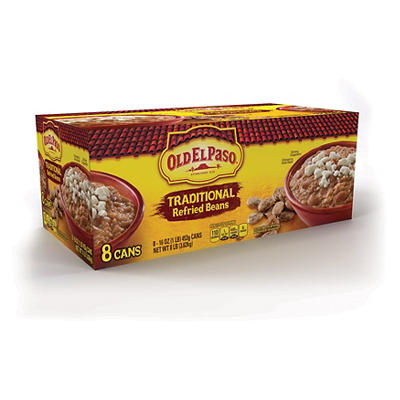 Old El Paso Traditional Refried Beans, 8 pk./16 oz.
