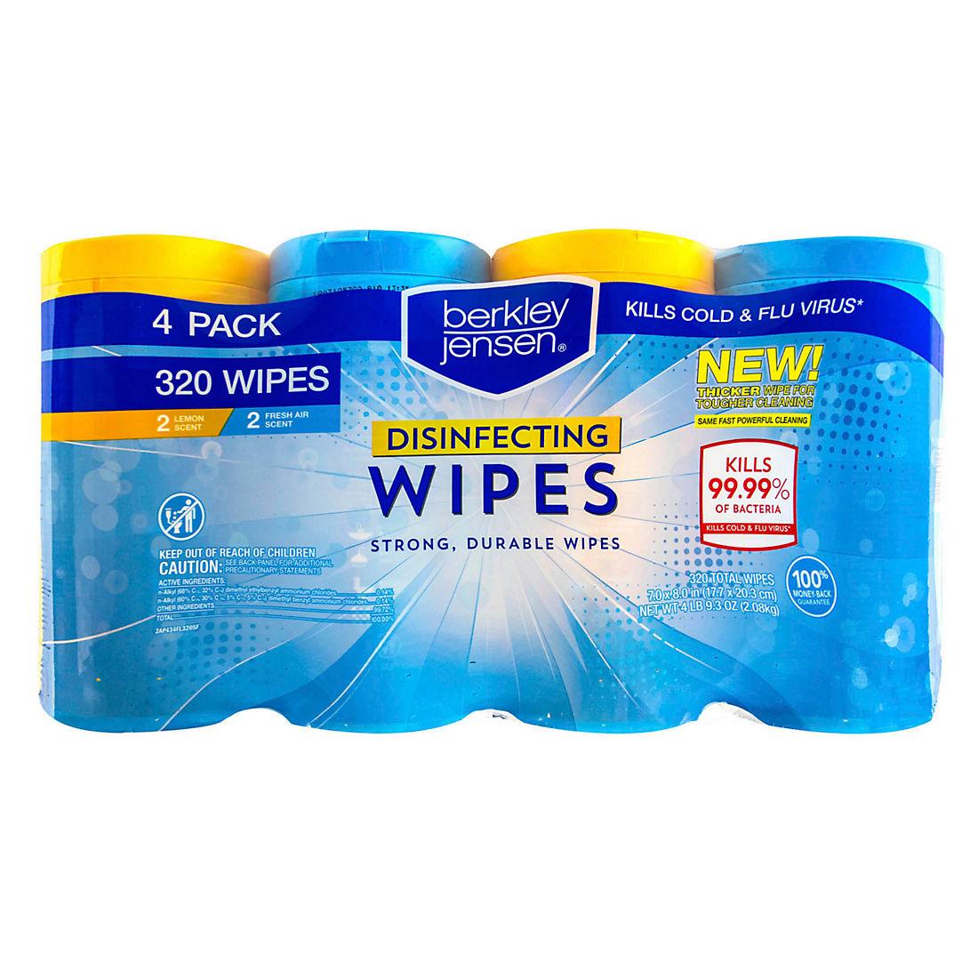 Berkley Jensen Disinfecting Wipes, 4 pk /80 ct