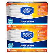 Berkley Jensen Soft & Fresh Dryer Sheets, 2 pk./190 ct.