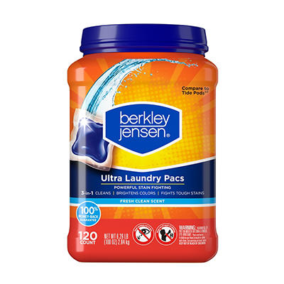 Berkley Jensen Ultra Laundry Pacs, 120 ct.