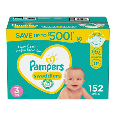 Pampers Swaddlers Diapers, Size 3, 152 ct.