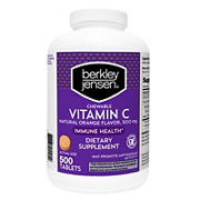 Berkley Jensen Vitamin C Chewable Vitamin, 500 ct.