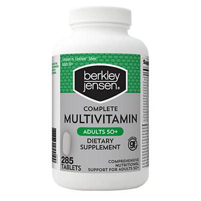 Berkley Jensen 50+ Multivitamin, 285 ct.