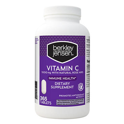 Berkley Jensen 1,000mg Vitamin C with Natural Rose Hips, 365 ct.