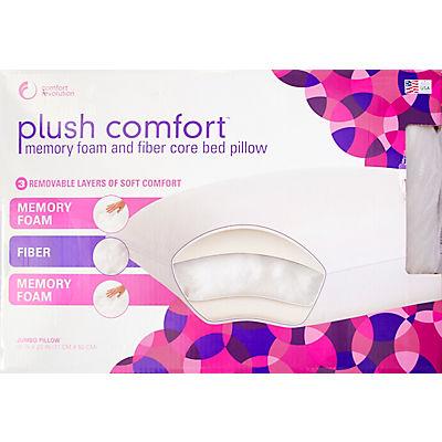 Comfort Revolution Plush Comfort Jumbo Bed Pillow