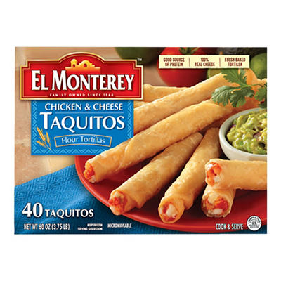 El Monterey Chicken and Cheese Taquitos, 40 pc.