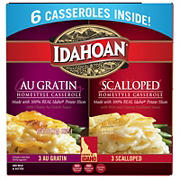 Idahoan Au Gratin and Scalloped Potato Homestyle Casserole, 6 pk.