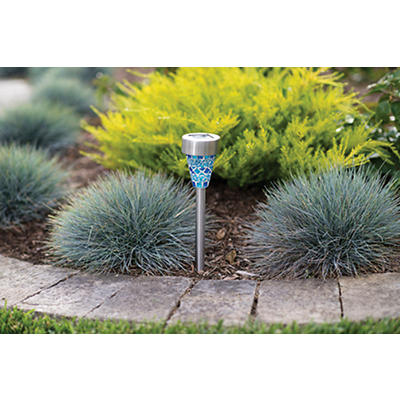 Berkley Jensen 2.4-Lumen Solar Mosaic Pathlights, 8 pk. - Assorted