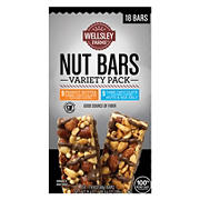 Wellsley Farms Nut Bars Variety Pack, 18 ct.