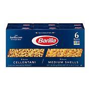 Barilla Cellantani and Medium Shells, 6 ct./1 lb.