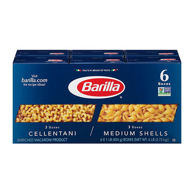 Barilla Cellantani and Medium Shells, 6 ct./1 lb.