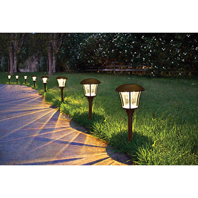 Berkley Jensen 8-Lumen Solar Pathway Lights, 8 pk. - Bronze