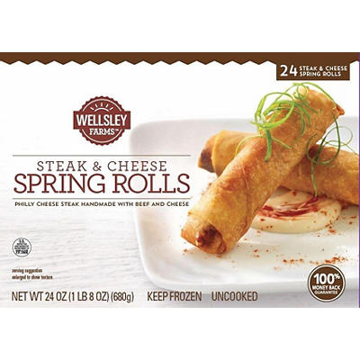 Wellsley Farms Steak and Cheese Spring Rolls, 24 oz.