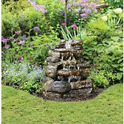 Berkley Jensen LED Waterfall Fountain - Brown