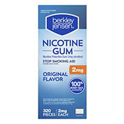 Berkley Jensen 2mg Uncoated Nicotine Gum, 320ct.