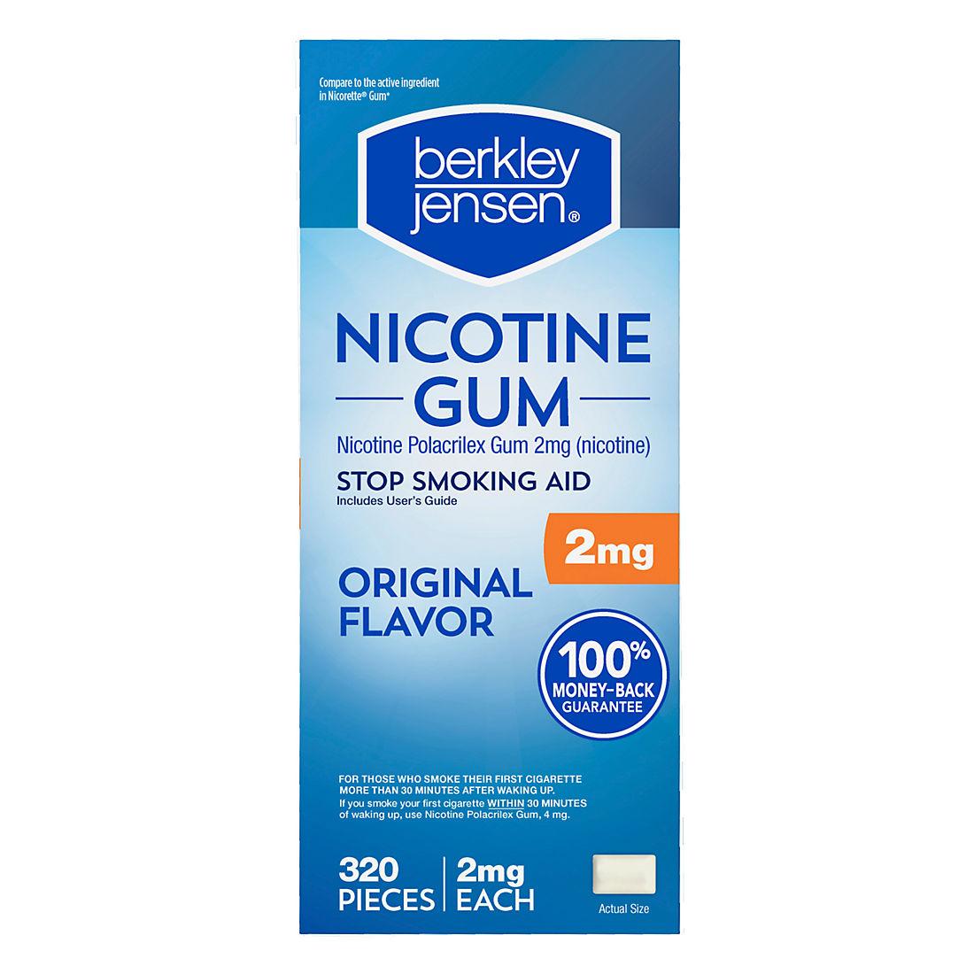 Berkley Jensen 2mg Uncoated Nicotine Gum, 320ct