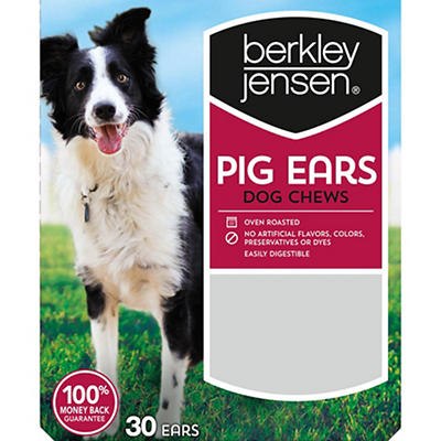 Berkley Jensen Pig Ears Dog Chews, 30 ct.