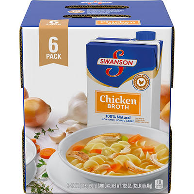 Swanson Chicken Broth, 6 pk./32 oz.