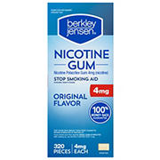 Berkley Jensen 4mg Uncoated Nicotine Gum, 320 ct.